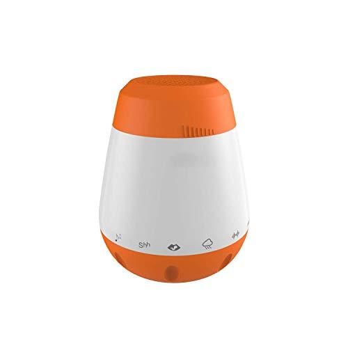 Baby-Schlaf-Sound-Maschine, White Noise-Maschine mit 6 beruhigenden Geräuschen, tragbarer Baby-Schnuller zum Schlafen, Reisen mit Geräuschsensor-Funktion, wiederaufladbar und tragbar für unterwegs (Diffusor Und Sound-maschine)