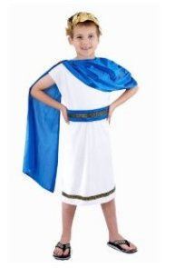 D/UP CHILD CAESAR BOY MEDIUM 7-9 YRS (Toga Kostüme Mit Blättern)