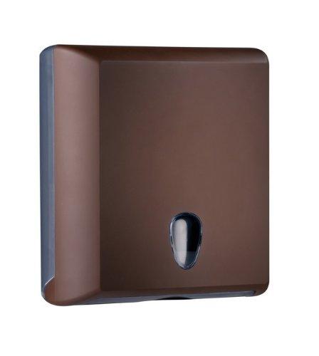 Mar Plast A70610EMA Papierhandtuchspender, Brown \'Soft Touch\'/ Transparent, 300 x 105 x 290 mm