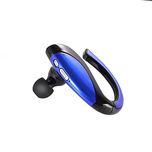 Unbekannt Bluetooth Ohrhörer Wireless Business-Freisprecheinrichtung In Ear Stereo Ohrhörer Lange Standby-Kopfhörer (Color : Blue)