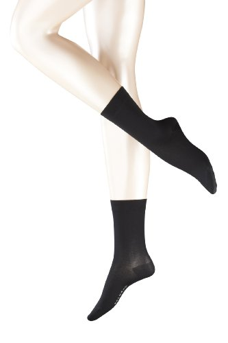 falke cotton touch FALKE 2 Paar Cotton Touch Damensocken (39-42, schwarz)