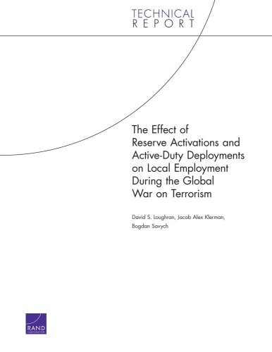 The Effect of Reserve Activations and Active-Duty Deployments on Local Employment During the Global War on Terrorism (2006) (Technical Report)