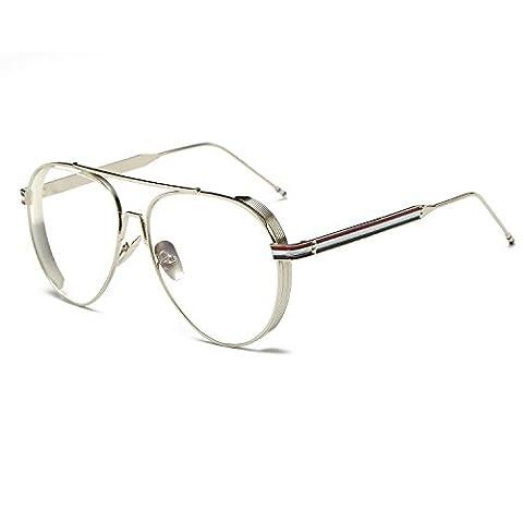 New Brand Clear Glasses Women Classic Optics Sunglasses Aviation Alloy Frame Transparent Lens Glasses Men Eye Glasses Female