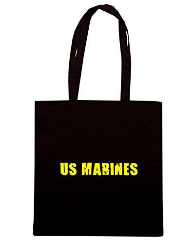 T-Shirtshock - Borsa Shopping OLDENG00704 us marines Nero