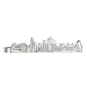 Berlin Krawattennadel Krawattenklammer 5,9 cm kurz Berliner sykline silbern glänzend
