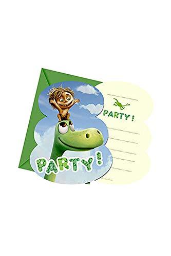 The Good Dinosaurier Party Einladungen, 6Stück