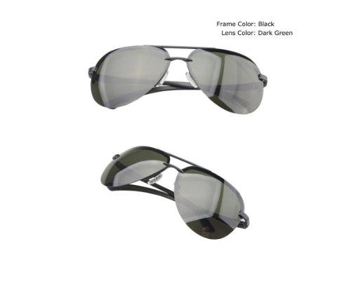 MNII lunettes de soleil polarisées hommes et femmes anti-UV tendance , silver frame gray- Apparence de mode, assurance qualité