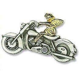 Gold und Silber zweifarbig Schutzengel Hog Biker Pin, 11/5,1cm -