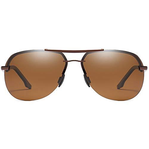 Lxc Trend New Street Shooting Wild Metal Material Polarisierte Sonnenbrille Braun/Blau/Schwarz Männer Und Frauen Mit Der Gleichen Sonnenbrille Fahren Zeige Temperament (Farbe : Brown)