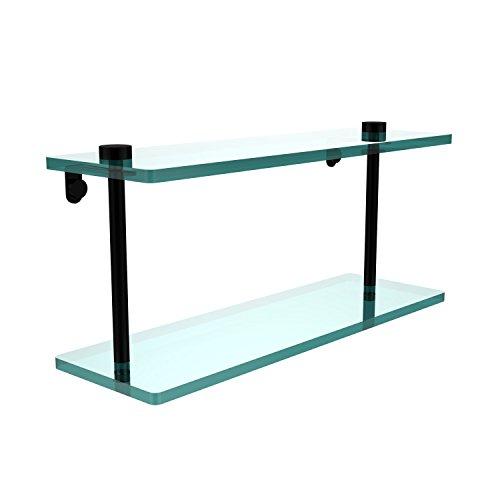 Allied Glass Badezimmer Regal (Allied Brass NS-2/16-BKM 16-Inch Double Glass Shelf by Allied Brass)