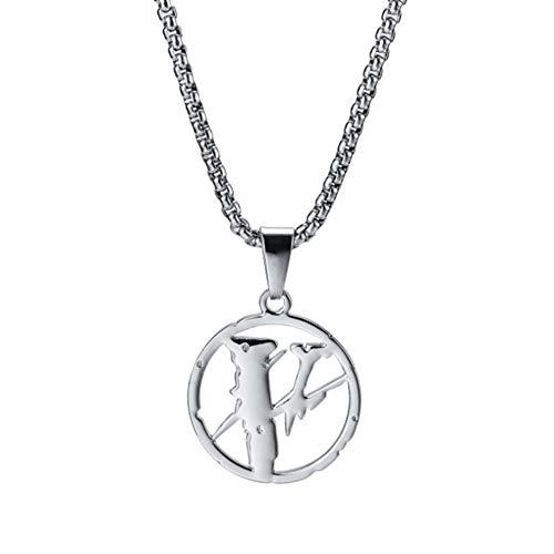 XINGYU Edelstahl Halskette Anhänger, Männer und Frauen Mode personalisiert Einfach Legierung Überzug Kettenmetall Silber Gold Unisex-Anhänger Schmuck Geschenk, Silver, 70cm