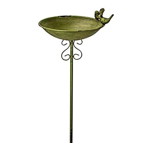 Flora Vogeltränke am Stab 24 x 22 x 100 cm auf alt getrimmt