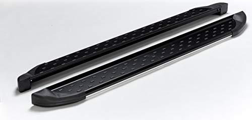 Pedane per Dacia Sandero Stepway, anno di costruzione dal 2009, modello Olympus, nero, con TÜV e ABE