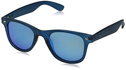 Polaroid unisex - adulto pld 6009/s m jy ujo occhiali da sole, blu (bluette transp/greyblmirror pz), 50