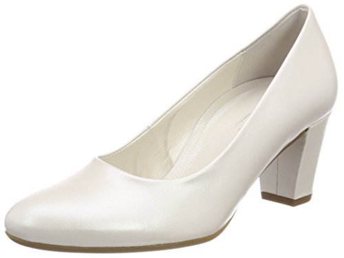 Gabor Shoes Damen Comfort Fashion Pumps, Weiß (Off-White (Natur)), 37 - Pumps Leder