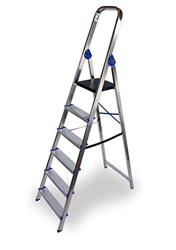 Escalera domestica de aluminio Altipesa Aluminio, 6 PELDAÑOS