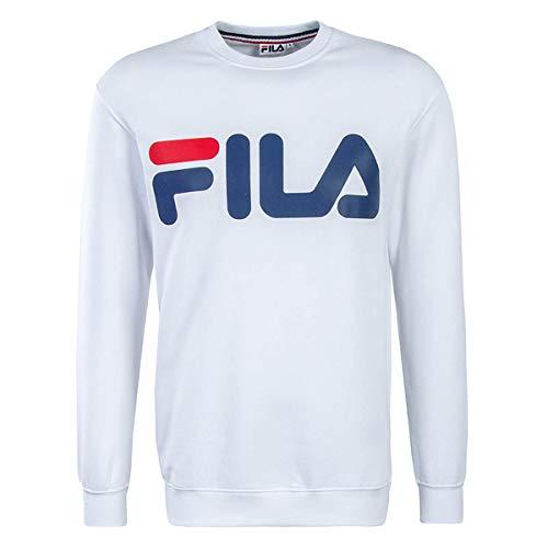 Fila Sweatshirt Herren URBAN LINE Classic Logo Sweat 680431 M67 Bright White, Größe:XL - White Classic Sweatshirt