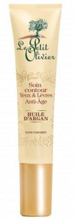 Le Petit Olivier - Soins Visage - Contour yeux et lèvres anti-âge à l'huile d'Argan- 15 ml