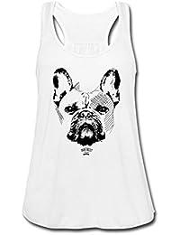 Frauen Dot Shirt Träger TankTop French Bulldog CHEF Französische Bulldogge Bully