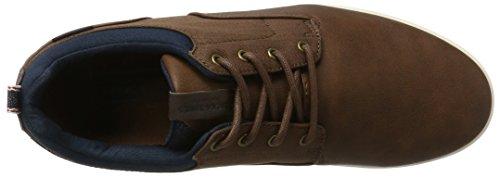 Jack & Jones Jfwvaspa Herringbone Textile Mix Bison, Zapatos Sueltos Para Hombres Brown (bison)