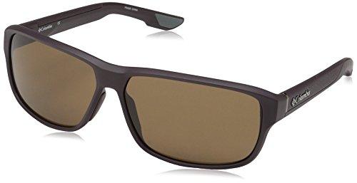 Columbia Men's Ridgestone Rectangular Sunglasses, Matte New Cinder, 62 mm
