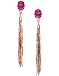 BELLOFOX Pink Alloy Dangle & Drop Earrings for Women