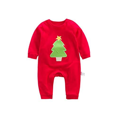 Hzjundasi Baby Jumpsuit Kleinkind Strampler - Kinder Body Neugeborene Creeper Nachtwäsche Xmas Baumwolle Nachtwäsche Langarm Pyjamas 3 M - 2 T - 1. Christmas Infant Creeper