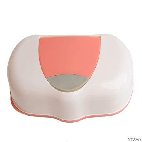 LIKEZZ 80 Blätter Wet Tissue Box Kunststoff Feuchttücher Aufbewahrungsbox Nachfüllbarer Behälter, Baby Wipes Aufbewahrungsbox, Orange