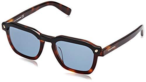 Dsquared2 clay occhiali da sole, dark havana/blue, 50 uomo