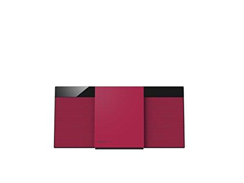 Panasonic SC-HC304EG-R Design-Stereo mit Digital DAB+ (Bluetooth, UKW, , CD, Micro- mit 20 Watt RMS) rot