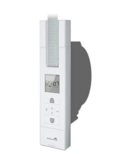 Schellenberg 22711 elektrischer Gurtwickler RolloDrive 105 Plus, weiß / Unterputz Rolladenantrieb für 23 mm Rolladen-Gurt, Zugkraft max. 60 kg / mit Display, Zeit- und Astrofunktion / inkl. Netzstecker