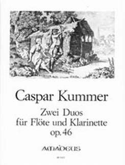 2 DUETTE OP 46 - arrangiert für Querflöte - Klarinette [Noten / Sheetmusic] Komponist: KUMMER CASPAR