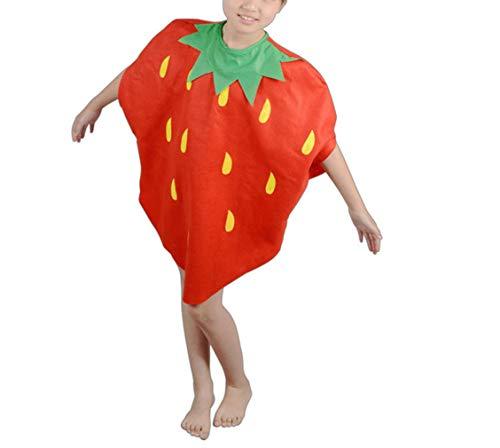 (zhruiqun Kids Fruits Halloween Outfits Kind Leicht Party Kostüme Mädchen Fancy Kleid (Erdbeere))