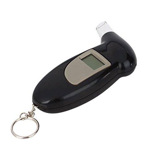 SODIAL(R) Sensor del alcohol de respiracion semiconductor de pantalla LCD / Probador del alcohol de respiracion digital Alcoholimetro con Llavero alerta audible