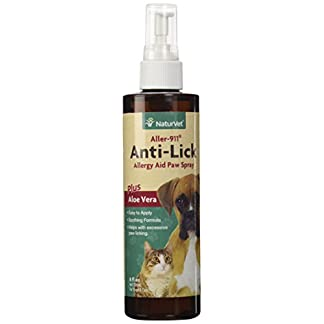NaturVet 978002 Aller-911 Anti Lick Paw Spray for Pets, 8-Ounce 31tL7sLEEUL