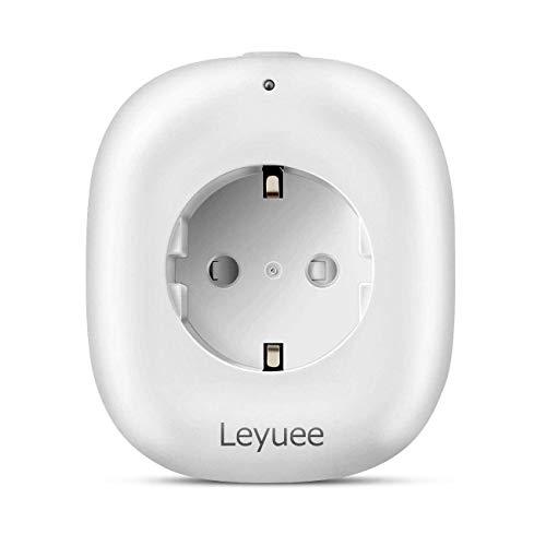Leyuee Smart Plug WiFi Steckdose Kompatibel mit Alexa Echo Google Home mit USB-Anschluss als Docking-Station für USB-Geräte Simultan Timing-Funktion Fernbedienung Ihre Geräte von überall (1 Pcs)