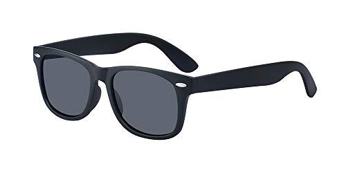 ALWAYSUV Kinder Bequem Polarisierte Sonnenbrillen für Jungen und Mädchen Alter 3-10 Brillenfassung Schwarz