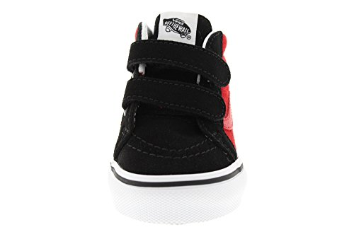 Vans Sk8-Mid Reissue V, Chaussures de Running Mixte Bébé Rouge (Black/racing Red2-tone)