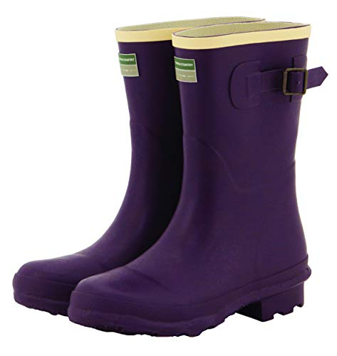 Womens Rubber Wellington Boots with Adjustable Buckle UK Sizes 4-8