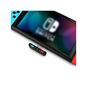 HomeSpot Bluetooth Adapter Audio Transmitter USB-C Bluetooth Dongle 5.0 mit aptX Low Latency NS Game Zubehör kompatibel mit Bluetooth Kopfhörer AirPods Bose Sony für Nintendo Switch (Blau -Rot)