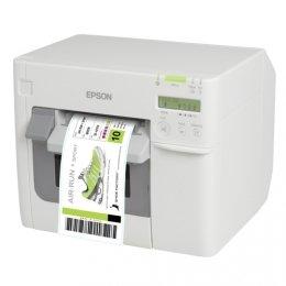 Epson Drucker Cutter (Epson TM-C3500, USB, Ethernet, Farb-Etikettendrucker, Tintenstrahldrucker (mehrfarbig), Medienbreite (max): 112mm, Druckbreite (max.): 104mm, Geschwindigkeit (max.): 103mm/Sek., Lieferumfang: Drucker inklusive Cutter, Display, inklusive Kabel (USB), Netzteil, Software (Label Design Software), Tintenpatrone)