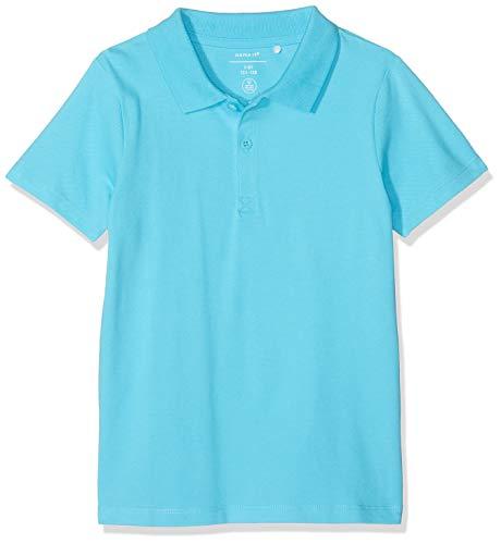 NAME IT Jungen Nkmhapolo Ss Polo Poloshirt, Türkis (Bachelor Button Bachelor Button), 158 (Herstellergröße: 158-164) -