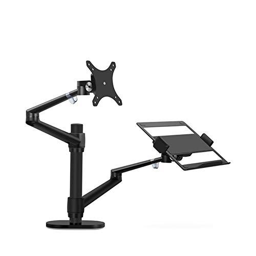 """Hjku Laptop- / Monitorhalterung, Schreibtischhöhenverstellbarer Monitorarm/Laptophalterung für 17 bis 32""""-Computerbildschirm, OL-3LSliver"""