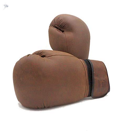 Boxhandschuhe Rindsleder Vintage Punchinghandschuhe Leder Boxen Kickboxen Muay Thai Training Sparring - Boxhandschuhe Leder Vintage