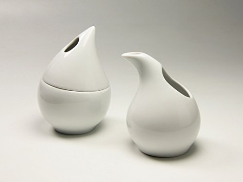 Creatable, 11100, Serie Drop Weiss, Geschirrset Milch-Zucker 2 teilig