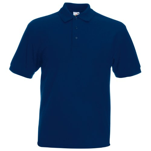 Polo-Shirt * 65/35 Polo * Fruit of the Loom Farbe navy Größe L - Resistent S/s Shirt