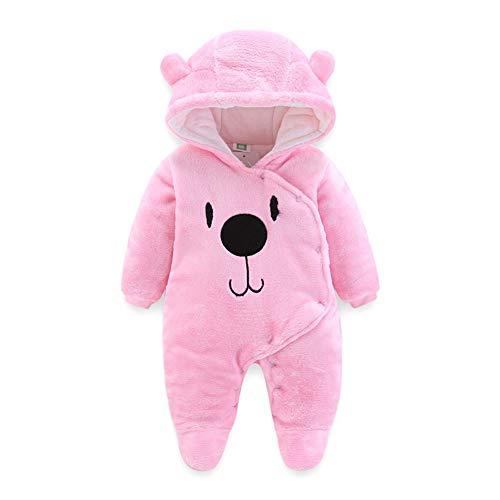 Fairy Baby Säugling Baby Mädchen Vlies Strampler Winter Overall Oberbekleidung Size 80(9-12 Monate) (Rosa) Footie Sleeper