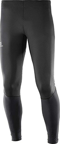 big sale aecad 0baba tights. Salomon Mallas para running, agile tight, tejido de punto, negro y  gris (