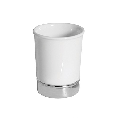 InterDesign Verre à Dents Blanc/Chrome