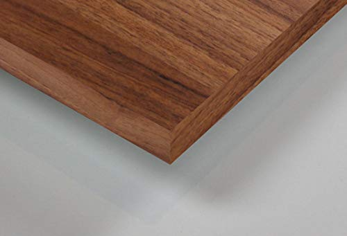 MySpiegel.de Tischplatte Holz Zuschnitt nach Maß Beschichtete Holzdekorplatte (120 x 70 cm, Nussbaum)
